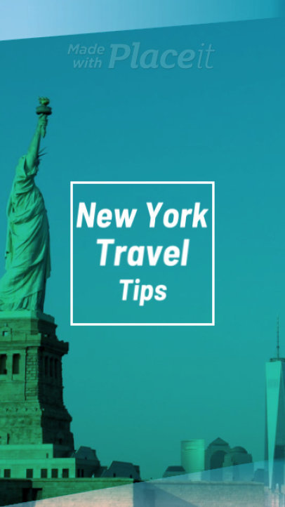 Traveling Instagram Story Maker with a New York Theme 1271e-1566