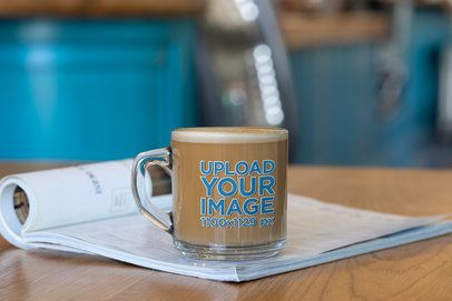 Coffee Mug Mockup of a Clear Glass Mug 31748