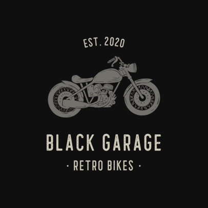 Logo Template for a Bikers Club Featuring Motorcycle Icons 925-el1