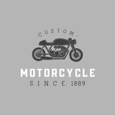 Logo Template with a Chopper-Style Motorcycle Graphic 925B-el1