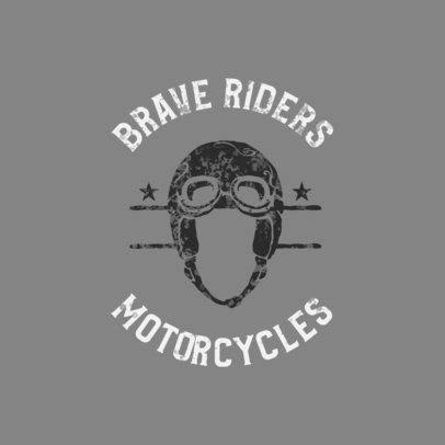 Logo Creator for a Biker Club with a Helmet Clipart 923a-el1