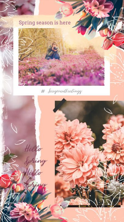 Spring-Themed Instagram Story Maker with Flower Graphics 2308h