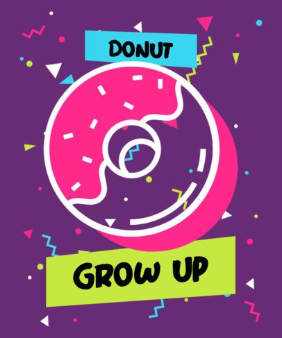 T-Shirt Design Generator Featuring a Donut Icon 309b-el1