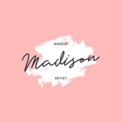 Logo Template for a Makeup Artist with a Brush Stroke Graphic 915a-el1