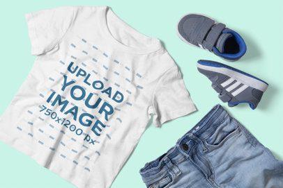 T-Shirt Mockup of a Boy's Outfit 2999-el1