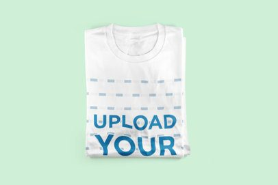 Mockup of a Neatly Folded Sweatshirt on a Solid Color Surface 3015-el1