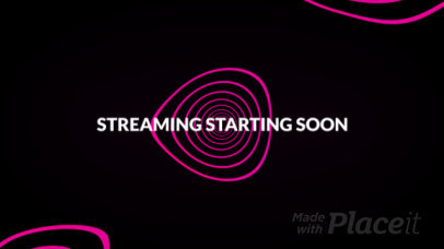 Twitch Starting Soon Screen Video Maker with Animated Wavy Lines 1821