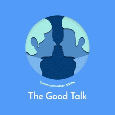Online Logo Template Featuring Paper Cut Art Graphics 2999g