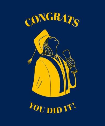 T-Shirt Design Maker Featuring a Proud Graduate 2305a
