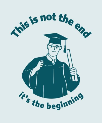 T-Shirt Design Maker Featuring a College Graduate Holding a Diploma 2305e