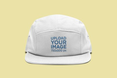 Mockup of a 5 Panel Hat with Customizable Background 3046-el1