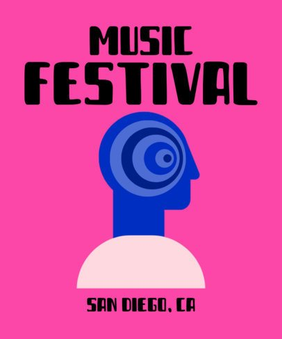 Music Festival T-Shirt Design Template 929b-el1