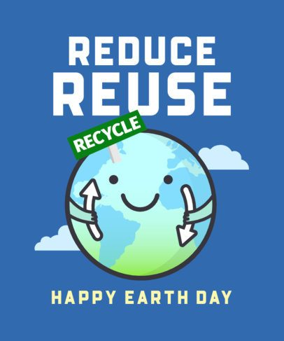 Earth Day T-Shirt Design Creator for a Recycling Cause 2301F