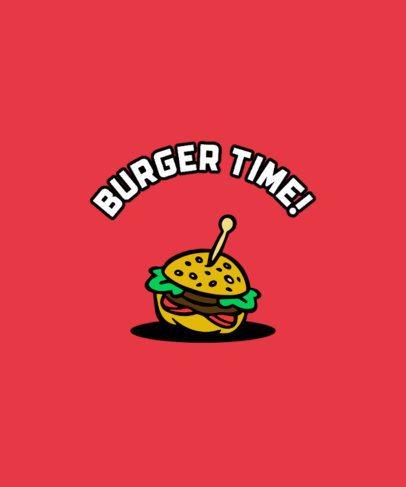 T-Shirt Design Generator with a Burger Graphic 294B-el1