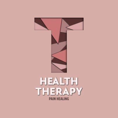 Therapy Center Logo Template Featuring a Textured Letter 2998g