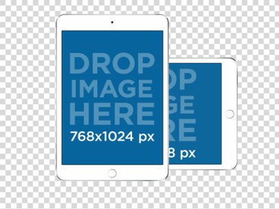 iPad Minis PNG Mockup in Landscape and Portrait Position a11918