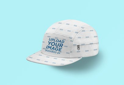 Mockup of a 5-Panel Hat Over a Plain Surface 3037-el1