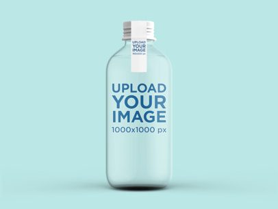 Water Bottle Mockup Featuring a Customizable Background 3059-el1