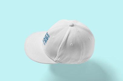 Snapback Hat Mockup Featuring a Plain Color Backdrop 3100-el1