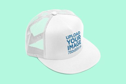Trucker Hat Mockup Featuring a Plain Background 3053-el1