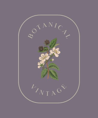 Botany T-Shirt Design Creator Featuring a Simple Frame 384b-el1