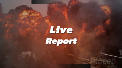 Slideshow Video Maker for a Breaking News Live Report 436
