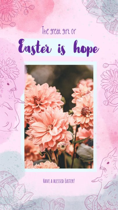 Instagram Story Maker for an Easter-Allusive Quote 2322i