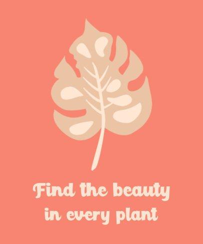 T-Shirt Design Generator Featuring Plant Leaves 385-el1