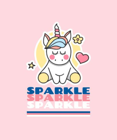 Kids T-Shirt Design Maker with a Cute Unicorn Graphic 421a-el1