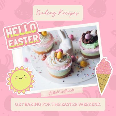 Instagram Post Generator Featuring Easter Baking Recipes 2323b