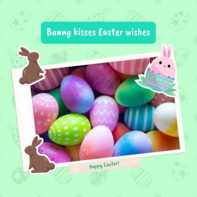 Easter-Themed Instagram Post Generator with an Instant Picture Frame 2323e