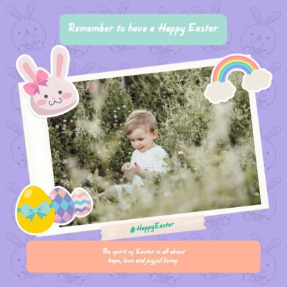 Design Template for a Sweet Easter Instagram Post 2323h