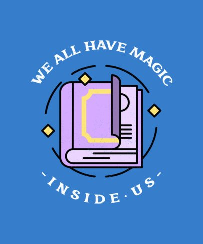 T-Shirt Design Generator Featuring a Magic Quote 476c-el1