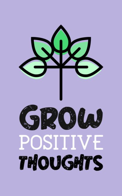 T-Shirt Design Generator Featuring a Positive Quote with a Plant 387c-el1