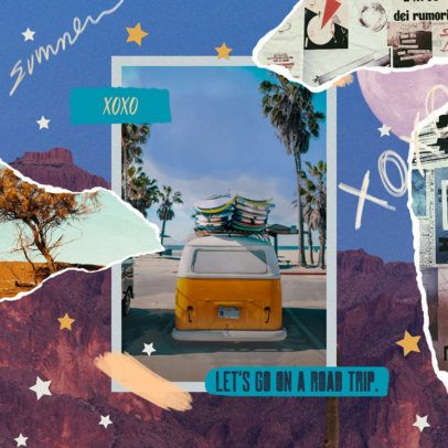 Summer-Style Instagram Post Creator for Travel Influencers 2321e