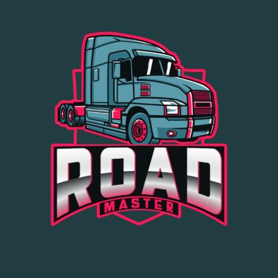 Illustrated Logo Maker Featuring a Big Truck 3014j
