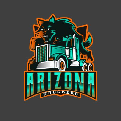 Trucking Company Logo Maker with an Aggressive Fox Graphic 3014d