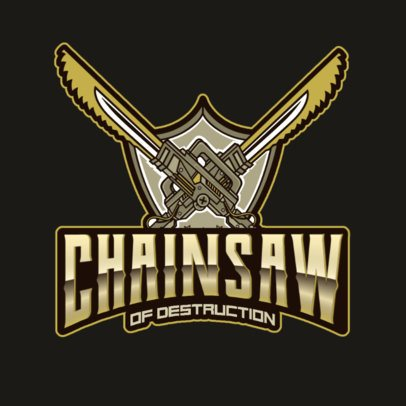 Gaming Logo Maker Featuring a Chainsaw Weapon 3019m