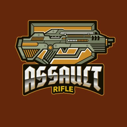 Logo Creator Featuring a Video-Game Assault Rifle 3019n