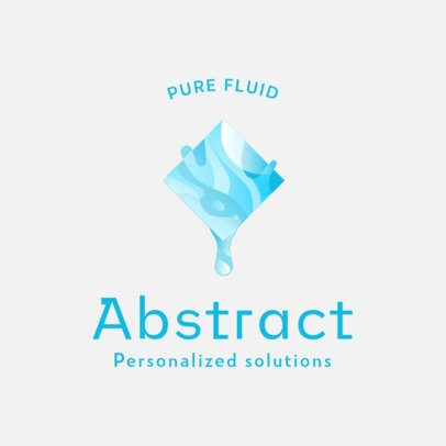 Abstract Logo Generator Featuring a Geometric Shape With a Fluid Texture 3021d