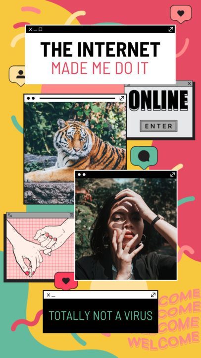 Instagram Story Maker Featuring Retro Computer Tabs 2343