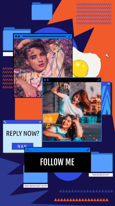 Retro Instagram Story Maker Featuring Computer Folder Graphics 2343i