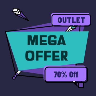 Sticker Design Maker for an Outlet Mega Offer 2337g