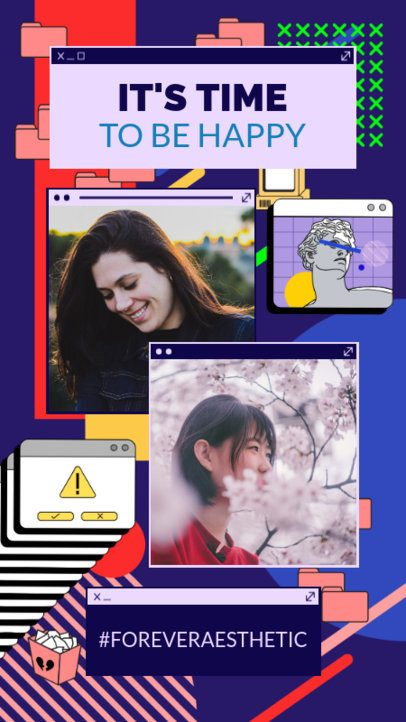 Retro Instagram Story Generator with Computer-Themed Graphics 2343m