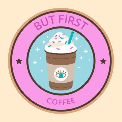 Sticker Design Generator with a Coffee Quote 2338c