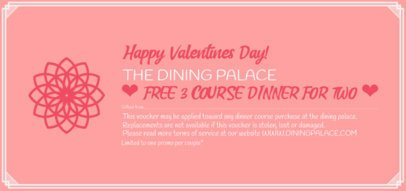 Gift Certificate for a Valentine's Day Dinner 2340i