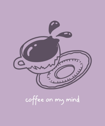 T-Shirt Design Creator with the Illustration of a Falling Coffee Cup 462c-el1