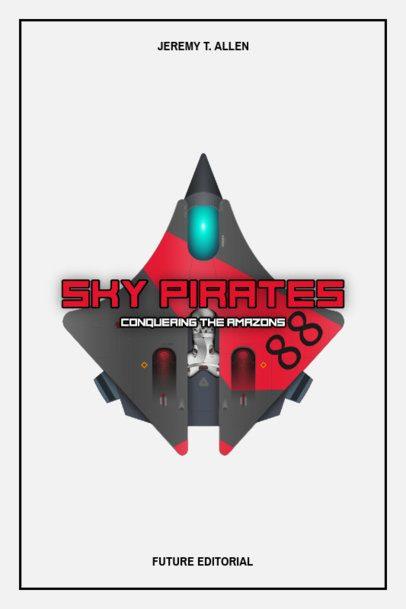 Sci-Fi Book Cover Maker with a Futuristic Spaceship 514b-el1