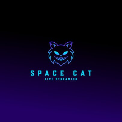 Logo Creator for a Streaming Channel Featuring a Cat Graphic 3035d