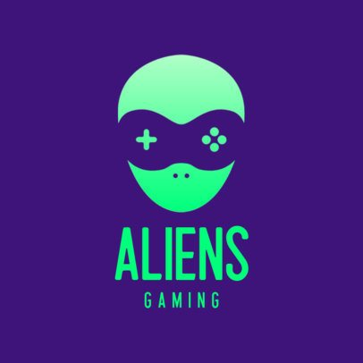 Logo Maker with a Simple Icon of an Alien Gamer 3044b